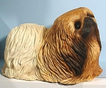 Click here to enlarge image and see more about item a05422: Large Sandicast Pekingese Dog