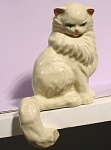 Click here to enlarge image and see more about item a05451: Ceramic Arts Studio Shelf Sitter Persian Cat