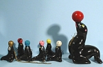 1950s Redware Circus Sea Lion with 6 Pups