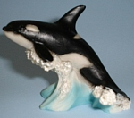Click here to enlarge image and see more about item a05521: Castagna Miniature Orca Whale
