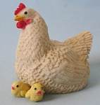 Click here to enlarge image and see more about item a05524: Castagna Hen with Chicks