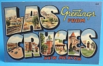 Click here to enlarge image and see more about item a05547: Big Letter Postcard Las Cruses 1953