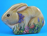 Click here to enlarge image and see more about item a05565m: Adorable Bunny Rabbit Tin