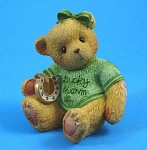 Click here to enlarge image and see more about item a05574m: Enesco Cherished Teddies Lucky Charm Bear