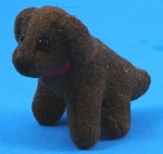 Click here to enlarge image and see more about item a05584m: Adorable Tiny Dollhouse Stuffed Puppy Dog