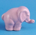 Miniature Pink Pottery Elephant