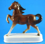 Beautiful 1960s Japan Ceramic Prancing Horse on Base
