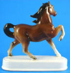 Click to view larger image of Beautiful 1960s Japan Ceramic Prancing Horse on Base (Image3)