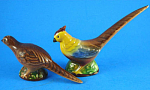 Click here to enlarge image and see more about item a05709: Goebel 1950s Full Bee Pheasant S/P Shakers