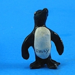 Click here to enlarge image and see more about item a05776: Miniature Painted Metal Penguin
