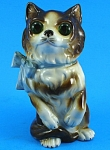 Click here to enlarge image and see more about item a05783: German Porcelain Perfume Lamp Cat Nightlight