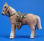 Click to view larger image of 1940s/1950s Miniature Painted Metal Western Horse (Image1)