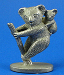 Click here to enlarge image and see more about item a05955m: CAT Designs Miniature Pewter Koala