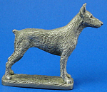 Click here to enlarge image and see more about item a05956: CAT Designs Miniature Pewter Doberman
