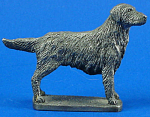 Click here to enlarge image and see more about item a05957m: CAT Designs Miniature Pewter Retriever