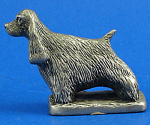 Click here to enlarge image and see more about item a05958m: CAT Designs Miniature Pewter Cocker Spaniel