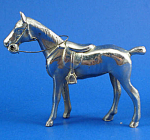Click here to enlarge image and see more about item a05974: 1940s Miniature Metal Horse
