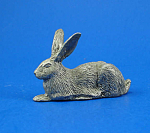 Click here to enlarge image and see more about item a05978m: CAT Designs Miniature Pewter Rabbit