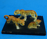 Miniature Bone China Leopard Family