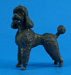 Click here to enlarge image and see more about item a06028: Miniature Pewter Poodle