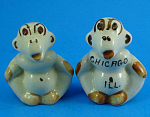 Click to view larger image of 1940s Pottery Ape Salt and Pepper Shaker Set (Image1)
