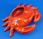 Unmarked Pottery Crab Dish