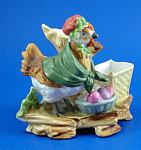 Click to view larger image of c1900 Hutschenreuther Bisque Porcelain Mother Hen (Image1)