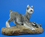 Click here to enlarge image and see more about item a06074: Aus-Ben Handpainted Schnauzer Dog