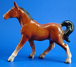 Click here to enlarge image and see more about item a06095: Shafford Japan Ceramic Small Bay Horse