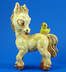 Resin Horse with Bird