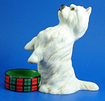 Click here to enlarge image and see more about item a06113: Franklin Mint Porcelain West Highland Terrier