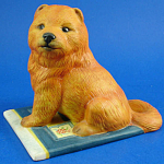 Click here to enlarge image and see more about item a06114: Franklin Mint Porcelain Chow Chow Dog Figurine
