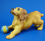 Click to view larger image of Franklin Mint Porcelain Cocker Spaniel Dog Figurine (Image1)