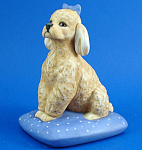 Franklin Mint Porcelain Poodle Dog Figurine