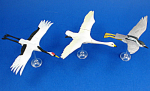 Click here to enlarge image and see more about item a06129: Kaiyodo Furuta Choco Egg Miniature Birds, 3 pieces