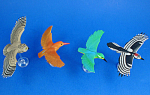 Click here to enlarge image and see more about item a06130: Kaiyodo Furuta Choco Egg Miniature Birds, 4 pieces