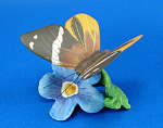 Click here to enlarge image and see more about item a06155: Franklin Mint Porcelain Butterfly on Flower