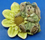 Click here to enlarge image and see more about item a06207: Boyds Bear Resin Rabbit Pin
