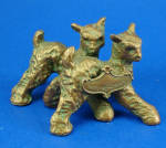 Click here to enlarge image and see more about item a06297: 1930s/1940s Miniature Metal Goat Pair