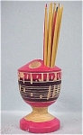 Click here to enlarge image and see more about item b01065: Wood Florida Souvenir Toothpick Holder