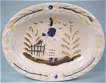 Click here to enlarge image and see more about item b01214: Small Vintage Quimper Style Plate