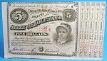 Click here to enlarge image and see more about item c00001c: Obsolete Currency 1878 Louisiana $5 Note Baby Bond