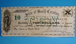 Click here to enlarge image and see more about item c00003: South Carolina $10 Revenue Bond Script 1872