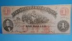 Click to view larger image of Obsolete Currency Virginia $1 Treasury Note 1862 (Image1)