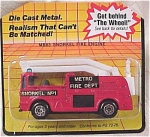Click here to enlarge image and see more about item d00155-57: Matchbox #63 Snorkel Fire Engine