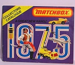 Click here to enlarge image and see more about item d00524: 1975 Matchbox Collector's Catalog
