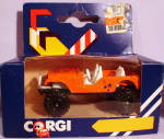 Click here to enlarge image and see more about item d00588: 1980s Corgi Jr. Orange Jeep