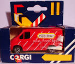Click here to enlarge image and see more about item d00589: 1980s Corgi Jr. Pointers Delivery Van