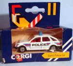 Click here to enlarge image and see more about item d00593: 1980s Corgi Jr. Sierra Police Car