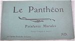 Click here to enlarge image and see more about item e00036: Old Souvenir Postcard Book - Le Pantheon